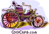 antique car Vector Clip Art graphic