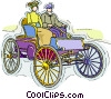 Vector Clip Art graphic  of an Antique auto
