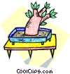 an exotic miniature tree Vector Clipart picture
