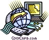 Vector Clip Art picture  of a Global telecommunications