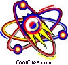 Vector Clipart image  of an atomic symbol