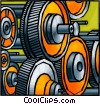 Gears in factory Vector Clipart picture