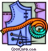 Vector Clipart image  of a seamstress and sewing design