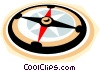 Vector Clip Art picture  of a compass symbol