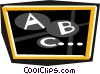 Vector Clipart graphic  of a blackboard