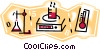 laboratory work Vector Clip Art picture