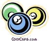 Vector Clip Art image  of a billiard balls