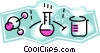 Vector Clip Art graphic  of a laboratory beakers