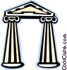 Vector Clipart illustration  of a Classical columns