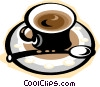 Vector Clipart graphic  of a espresso coffee