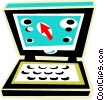Vector Clipart image  of a notebook computer