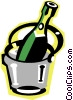 Vector Clip Art graphic  of a champagne