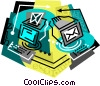 Vector Clip Art graphic  of a computer e-mail