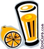 orange juice Vector Clipart graphic
