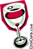 Vector Clipart graphic  of a glass of wine