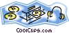 Vector Clipart illustration  of a CD music entertainment