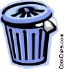 garbage can, waste, trash Vector Clip Art picture