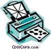 printer Vector Clipart illustration