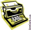 typewriter Vector Clip Art picture