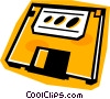 Vector Clip Art image  of a diskette