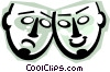 Vector Clip Art image  of a theatre or drama masks