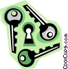 keys Vector Clipart illustration