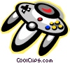 Vector Clip Art image  of a video game control unit