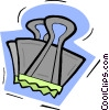 Vector Clip Art image  of an alligator clip