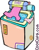 clothes washer Vector Clip Art graphic