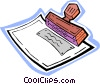 rubber stamp Vector Clipart graphic