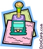 Vector Clipart illustration  of a rubber stamp