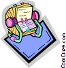 Vector Clip Art graphic  of a rolodex