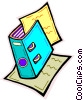 Vector Clip Art graphic  of an accounts book