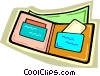 wallet Vector Clipart illustration