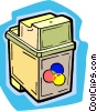 Vector Clipart picture  of a ink cartridge