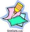 Vector Clipart picture  of a glue bottle