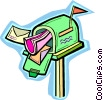 mailbox Vector Clipart graphic