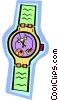 Vector Clipart graphic  of a wristwatch