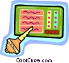 lottery ticket Vector Clipart image