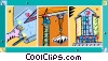 Vector Clip Art image  of a construction crane