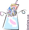 Vector Clip Art graphic  of a money being discarded in the