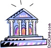 Vector Clip Art picture  of a bank