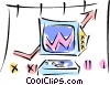 computer charts Vector Clip Art picture