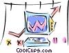 computer charts Vector Clip Art picture