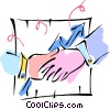 Vector Clipart picture  of a shaking hands