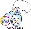 binoculars Vector Clip Art graphic