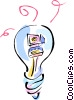 Vector Clipart graphic  of a idea light bulb