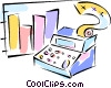cash register sales results Vector Clipart illustration