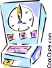 punch clock, time clock Vector Clipart image