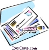 writing a check Vector Clipart image
